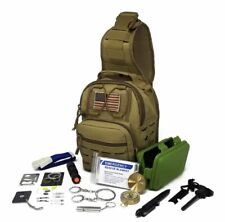 Military Tactical Sling Bag Survival Emergency Kit  Hiking Camping Fishing New