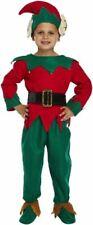 Children Kids ELF Red Green Christmas Fancy Dress Unisex Book Week Xmax Costume