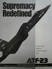 3/1991 PUB NORTHROP MCDONNELL DOUGLAS YF-23 F-23 STEALTH ATF FIGHTER ORIGINAL AD