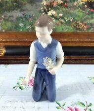 "Bing and Grondahl # 2346 "" Boy Holding Flowers "" Figurine"