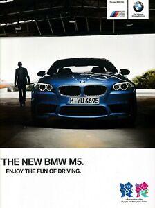 BMW M5 Saloon 4.4 V8 DCT UK Market Brochure 2011-2012 48 Pages (F10)