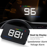 """3.5"""" Car Vehicle HUD Head Up Display RPM Speed Voltage Warning OBD2 Interface"""