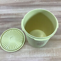 Tupperware Yellow Servalier Canister 811-4 With Yellow Lid 812-18 Vintage