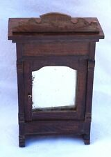 French Doll House Miniature Armoire Wardrobe Cabinet 1880