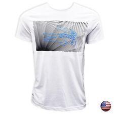 New Lacoste Men's White Crew Neck Cotton T-shirt Short Sleeve size L (2546)