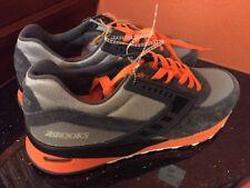 BROOKS Regent Vintage Anthracite Dark Grey Orange Mens Running Shoes NEW Sz 8