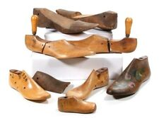 Antique Lot Of 9 Wood Shoe Forms Molds Shoemaker Cobbler Old Vintage