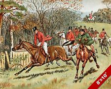 ONE FOOL MAKES MANY FOX HUNT HORSE FOXHUNTING HUNTING ART PAINTING CANVAS PRINT