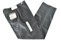 Haggar Mens Gray Pants New Flat Front Classic No Iron Khaki 32 34 36 38 40 42 44