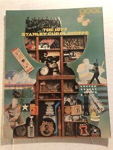 1977 Stanley Cup PLAYOFFS Magazine TORONTO MAPLE LEAFS Rod GILBERT Garry UNGER