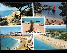 PLAYA DE ARO (ESPAGNE) HOTELS & REGATE à la PLAGE animée en 1963