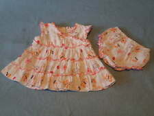 Gorgeous Butterflies & Flowers Dress and Bloomers/Pants Set, Size 00