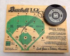 BASEBALL I.Q.Tester 1978 Venture MFG Deluxe Board Peg Wood Puzzle Game USA