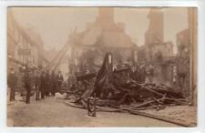 More details for picture postcard of the aftermath of a fire at builth wells (c35042)