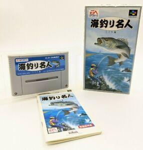"""Umi Tsuri Mejin: Suzuki Hen Nintendo SENS Super Famicom """"SFC"""" original box 1994"""