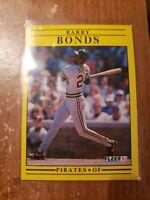 1991 Fleer Barry Bonds Card #33 Pittsburgh Pirates A46