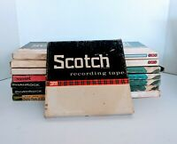 Vintage Pre Recorded Reel to Reel Tape Lot of 15 With Boxes Scotch  Shamrock +