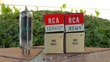 Danelectro & Harmony Amp nuevo viejo stock/Nuevo En Caja Conjunto De Tubo De Rca 12AU6 35W4 50C5 x2-Envío Gratis