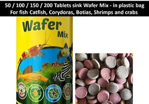 Fish food Tablets Sink Wafer Mix Shrimps, crabs, Corydoras, Botias, Catfish