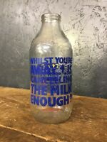 Vintage Glass Milk Bottle Advertising 1 Pint 'Polycell'