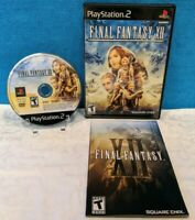 Final Fantasy XII (Sony PlayStation 2, 2006) with Manual - Tested & Working