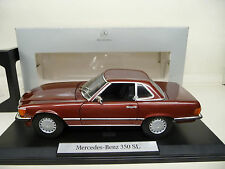 1:18 NOREV MERCEDES 350 SL w107 BORDEAUX METAL MERCEDES CLASSIC EDITION NUOVO NEW