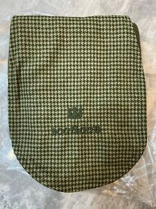 New Khaki Green Tweed And Fleece Scotland Scarf BNWT