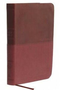 NKJV, Value Thinline Bible, Compact, Leathersoft, Burgundy, Red Letter,