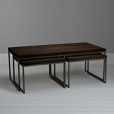 John Lewis & Partners Calia Coffee Table with Nest of 2 Tables, Dark