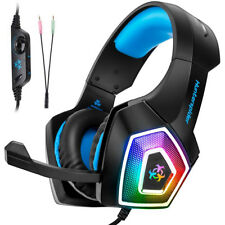 3.5mm Gaming Headset Music LED Mic Headphone For PC Mac NS Laptop PS4 Xbox One