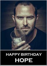 Sullivan Stapleton Birthday Card A5 Personalised own words