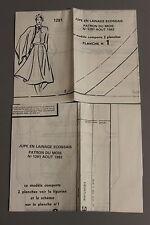 """"""" MODES & TRAVAUX """" PATRON AOUT 1982 + PATRON POUPEE MARIE FRANCOISE JEAN M  A10"""