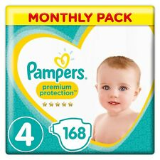 Pampers Premium Protection 168 Nappies 9 to 14 kg Pack of 1 Size 4 Comfortable