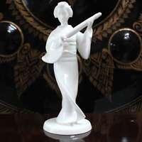 Giapponese Geisha Figura (22cm) Porcellana Meiko Scultura - AsienLifeStyle