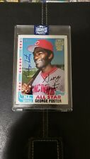 George Foster Auto! Topps Archives Signature Series. /41 1982 Topps Chewing Gum