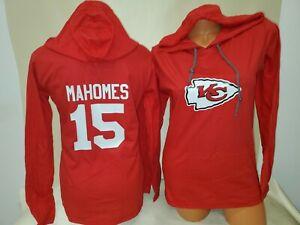 1118 WOMENS Kansas City Chiefs PATRICK MAHOMES Long Sleeves Jersey Shirt RED New