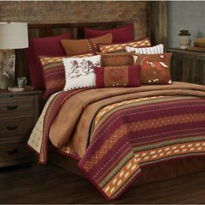Solace Desert Sunset Quilted Southwest Country Full/Queen 3-Piece Bed Set