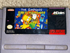 SNES Cartridge The Simpsons Barts Nightmare Tested