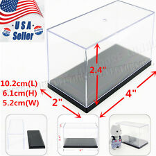 Small Clear UV Acrylic Plastic Display Box Case Dustproof Protection Toy Decor