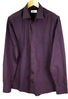 Eton Hombre Algodón Camisa Entallada Cuadros Formal Casual Top Talla 42 16 1/2