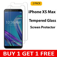 2PACK For Apple iPhone XS Max 100% Genuine Tempered Glass Film Screen Protector