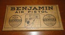 Vintage Benjamin Franklin Model 112 Air Pistol Original Box & Paper Work Only