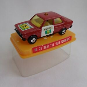 "Vintage 1970's Guisval (Spain) No27 Seat 131 ""Bomberos"" Fire Car RARE VNM BOXED"