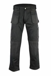 Mens Workwear Trouser Carpenter Builder Farmer Cargo Work Pant Knee Pads Pockets