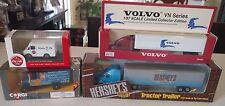 LOT OF 4 TRUCKS Hershey Corgi Volvo Tractor Trailer Coca-Cola Good Year MIB semi