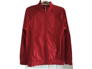 """NIKE Dri-Fit Red Zipped Golf Jacket Extra Large P2P 20""""-40"""" Chest BARGAIN"""