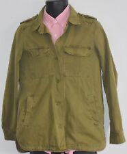 Designer Military Jacket Army Green Womens M Fatigues Tough Girl Cargo Punk