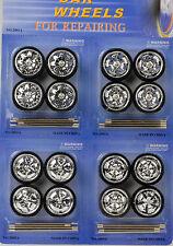 16 Felgen tires Reifen rims Radsatz 4 x chrome tuning Zubehör Diorama 1:24 1:18