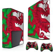 Galles bandiera adesivo / Pelle XBOX 360E console & controller remoto ADESIVI xsk25