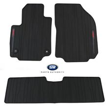 2018-2019 GMC Terrain Front & Rear Premium All Weather Floor Mats Black OEM GM